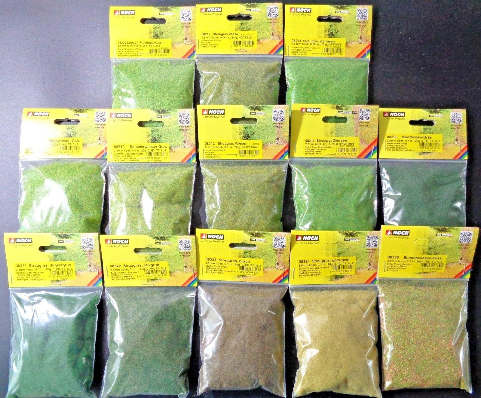 (11,95€/100g) NOCH Streugras / Grasfasern, Frühlingswiese, Auswahl, 20 g Beutel