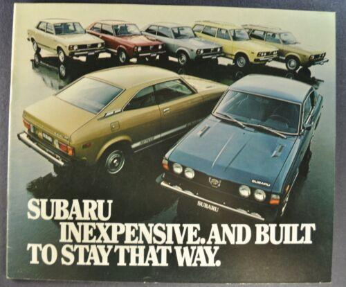 1978 Subaru Catalog Sales Brochure GF DL Sedan Wagon Excellent Original 78