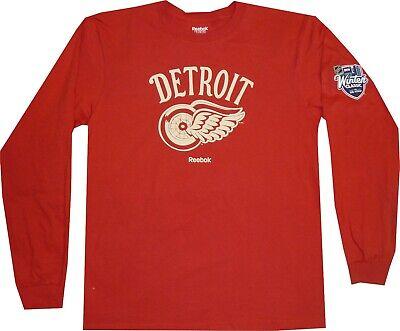 Detroit Red Wings Reebok 2014 Winter Classic Long Sleeve T Shirt New tags MEDIUM Detroit Red Wings Tee