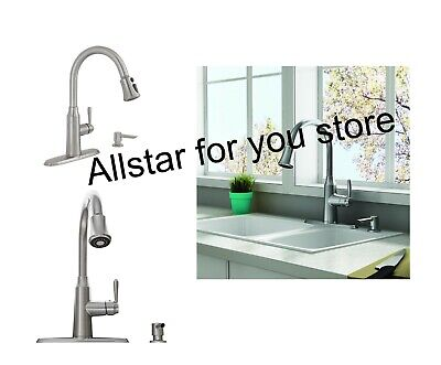 American Standard Stainless Steel 1-Handle Deck Mount Pull-Down Kitchen (American Deck Mount Faucet)