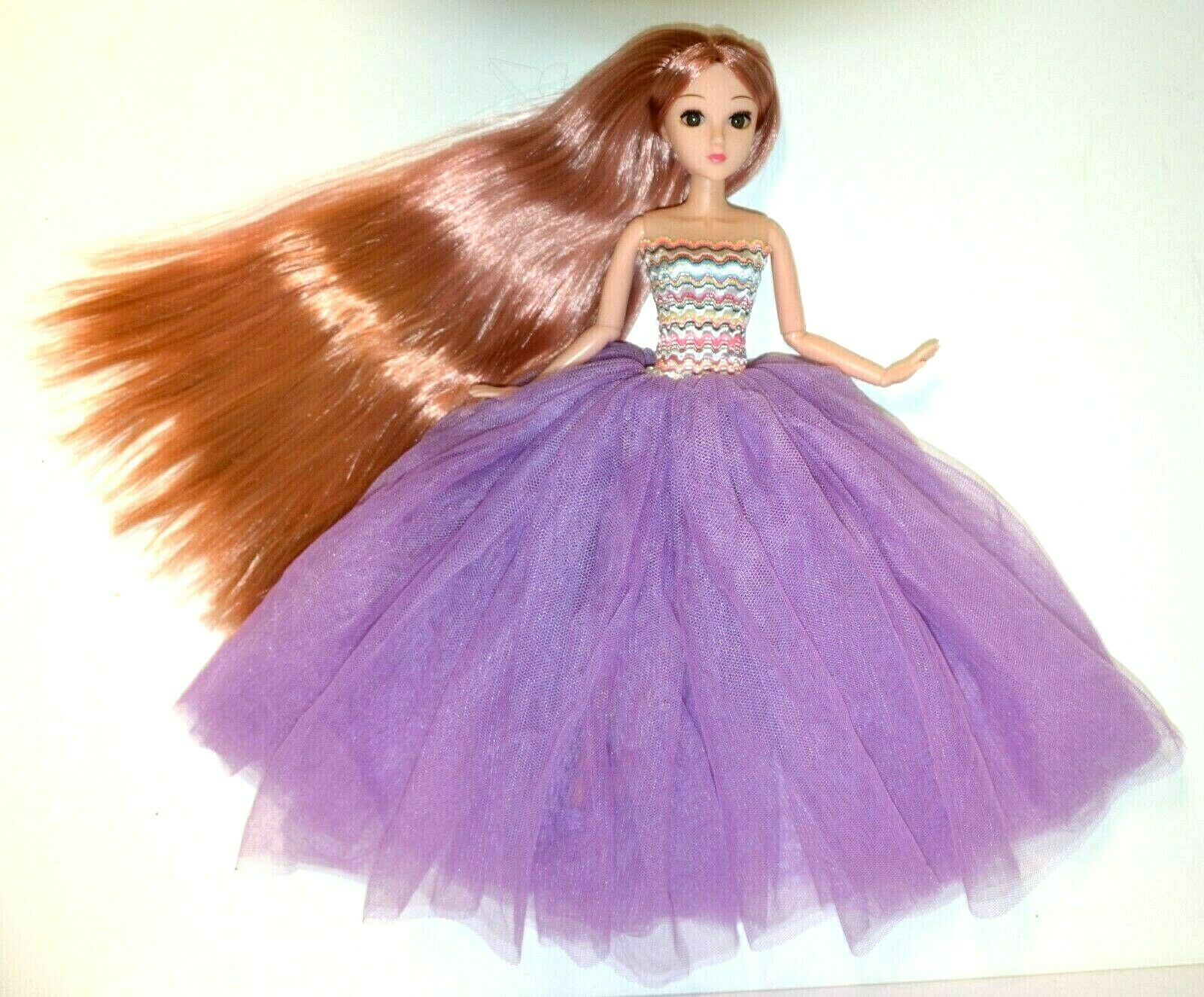 """Eledoll Poseable Jointed Articulated 12"""" Fashion Doll Rose G"""