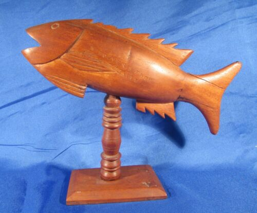 Vintage Wooden Carved Fish Pitcairn Island