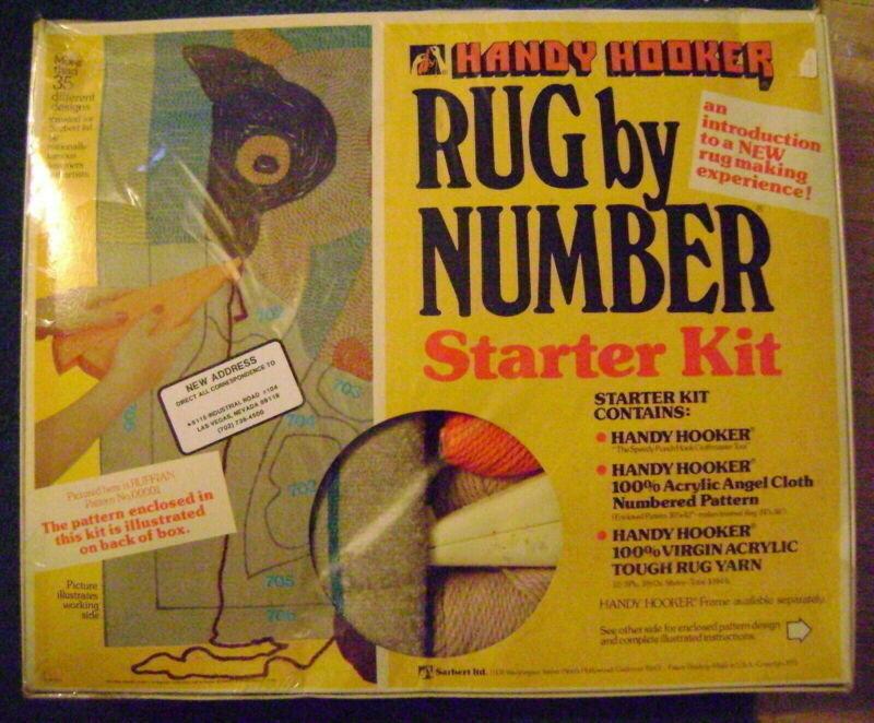 Starbert Handy Hooker Rug Number Starter Punch Hook Kit Ruffian Horse Head VNTGE