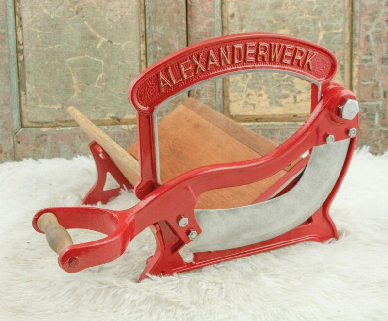 Antique ALEXANDERWERK Bread Slicer Cutter Cast- iron Cutting Slicing Machine
