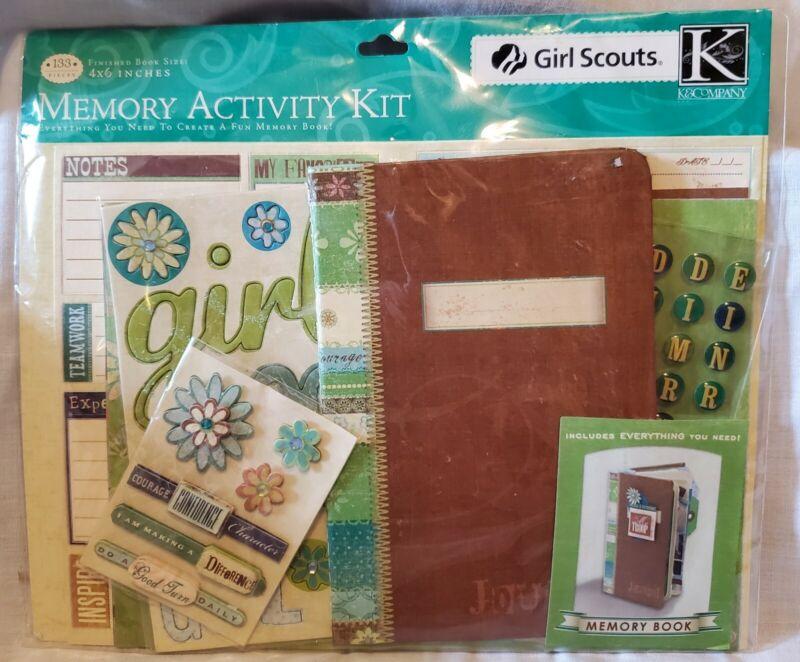 "Girl Scouts Memory Activity Kit Scrapbook 4x6"" GSUSA K & Company NEW"
