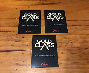 Gold class adult tickets x3 Maylands Bayswater Area Preview