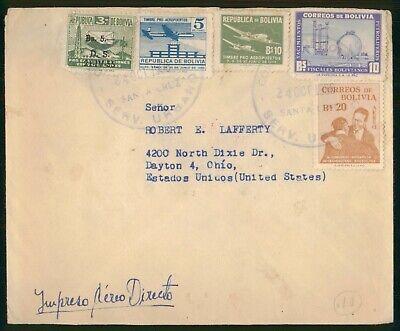 Mayfairstamps Bolivia 1956 Santa Cruz Plane Combo Industrial Plant Cover wwo_763