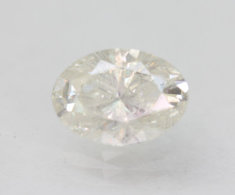 Certified 1.12 Carat F SI2 Oval Enhanced Natural Loose Diamond 8.01x5.7mm 2VG