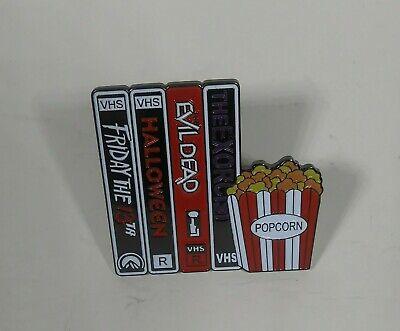 80s 90s VHS Halloween Horror Movie Enamel Pin NEW Unbranded.