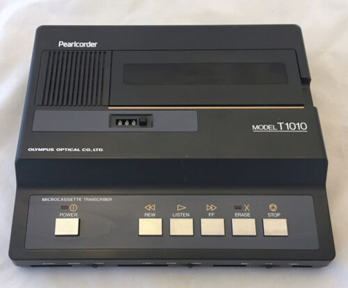 Olympus Pearlcorder Model T1010 Micro Cassette Transcriber - No Power AC Adapter