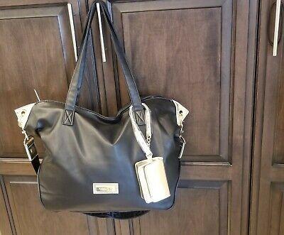 Versace NEW Womens Tote Large Bag Black/Gold Handbag Purse Versace Perfume Tote