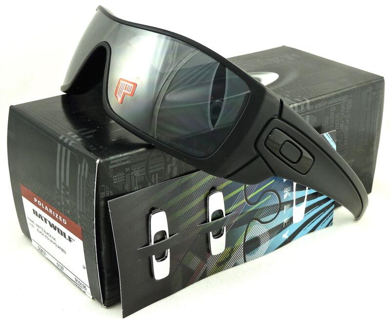 NEW Oakley Batwolf Sunglasses Matte Black Ink l Blk Iridium Polarized OO9101-35