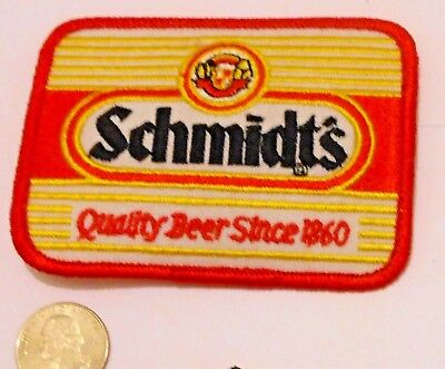 "Schmidt Beer Embroidered Patch  4"" inches   Made in USA"
