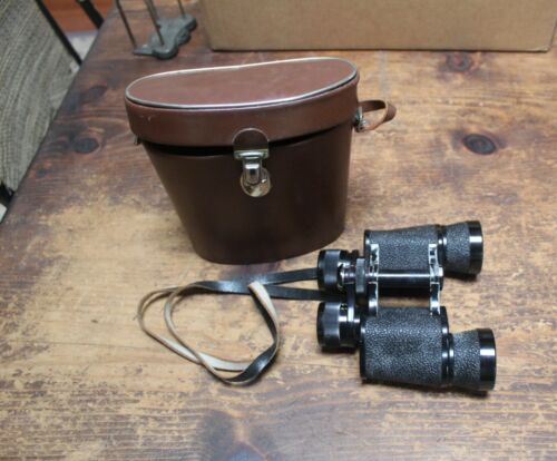 Vintage AGFA German 7 X 35 Binoculars #390224 w/ Case #6143, Good Condition