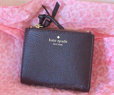 NWT Auth Kate Spade Small Malea Mulberry Street Wallet Purse Mahogany