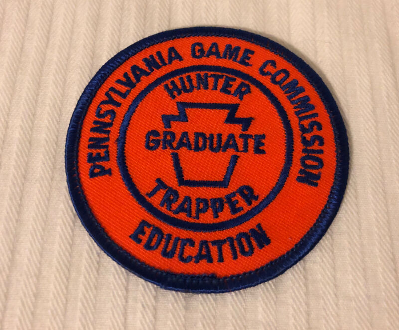 """Pennsylvania Game Commission Education Hunter Trapper Graduate 3"""" Twill Patch"""