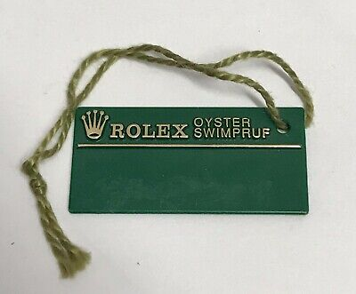ROLEX Green Tag Hangtag Oyster Swimpruf W127610 SUBMARINER GMT EXPLORER 1994/95