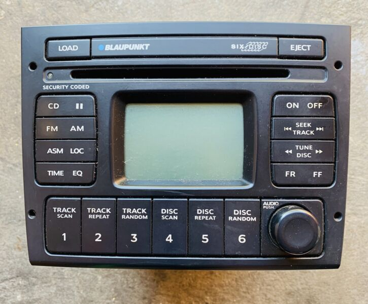 genuine blaupunkt holden vy vz ss factory 6 disc stereo/radio