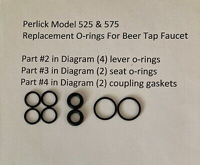 2perlick O-ring Rebuilding Kits For 525 575 Beer Faucet Homebrew Beer Tap