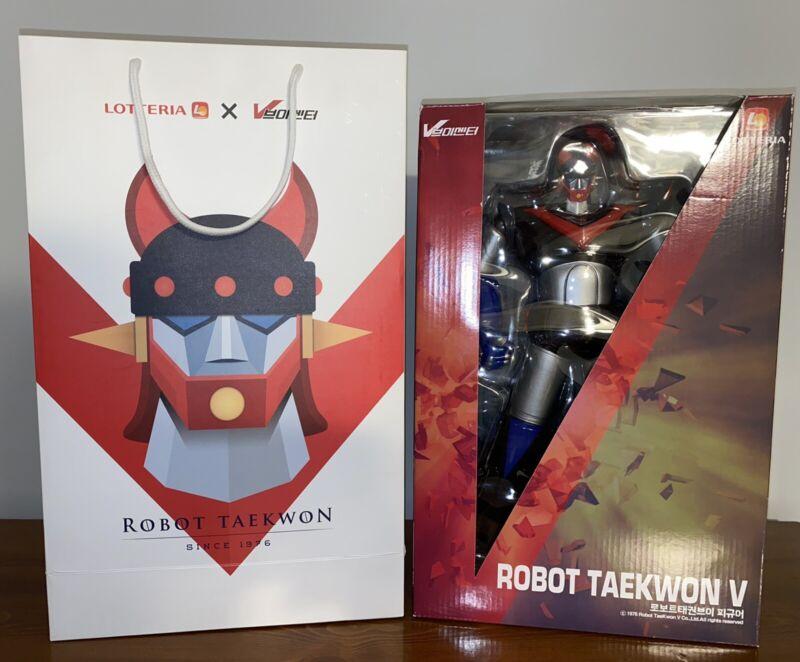 "ROBOT TAEKWON V 1976 Big 14"" Figure 2017 Limited Edition Lotteria like Mazinger"