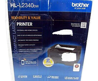 32 Mb Duplex Usb - New Open Brother HL-L2340dw Compact Laser Printer Monochrome Wireless Duplex USB