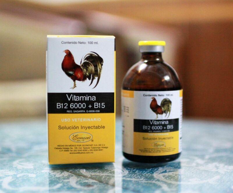 Vitamina B12 6000 + B15 / 100ml of Econovet (Exp 04/2022)