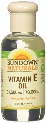 Sundown Pure Vitamin E Oil 70000 IU For Skin Hair Face