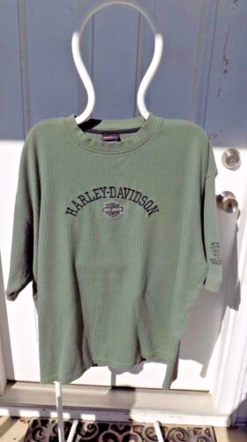 Smoky Mountain Harley-Davidson Green Ribbed Short Sleeve Shirt Size XXL