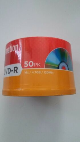 Imation DVD-R 50 Paq 16x / 4.7GB / 120 Min Writable Disc Spindle Sealed Pack New