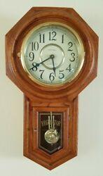 Classic Manor Regulator Pendulum Wall Clock NICE