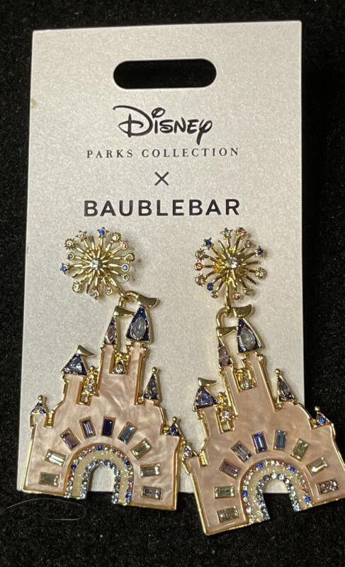 Disney 50th Anniversary Baublebar Castle Earrings Set New In Hand