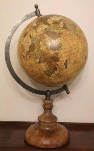 ANTIQUE STYLE TABLETOP WORLD GLOBE