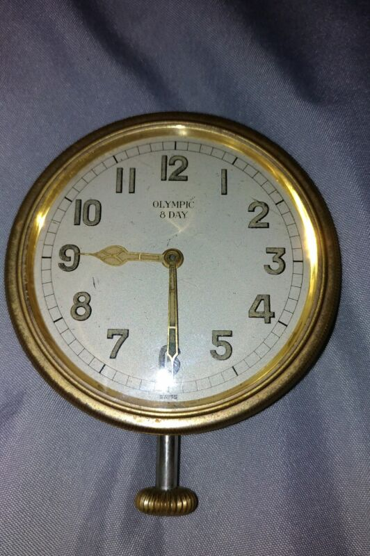 olympic 8 day car clock watch vintage antique