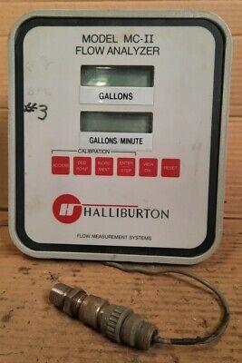 Halliburton Mc-ii Flow Analyzer With Mounting Bracket Untested S41