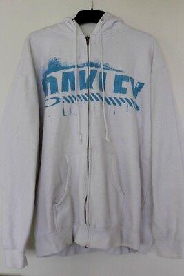 OAKLEY Herren Jacke Sweatjacke Sweater Weiß XL Hoodie Weiß Strickjacke