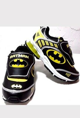 Batman DC Comics Toddler Boy's Premium Athletic Sneakers Shoes Light Up Size 11 Dc Kids Shoes