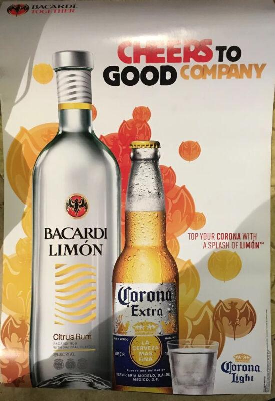 Bacardi Limon/Corona Poster 24 By 36