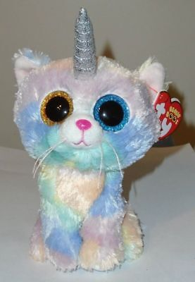 Ty Beanie Boos - HEATHER the Unicorn Kitty Cat / Unikitty (6 Inch) NEW ~ IN HAND