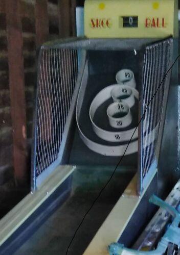 Original Philadelphia Toboggan Co Skee Ball Coin Operated Mechanical Arcade Game