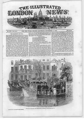 1849 Blessings Of Coal Royal Embarkation Whitehall Stairs