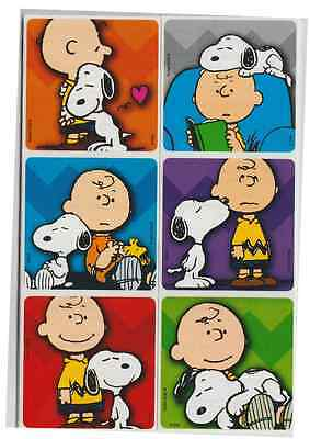 25 Peanuts Charlie Brown Snoopy Stickers, 2.5