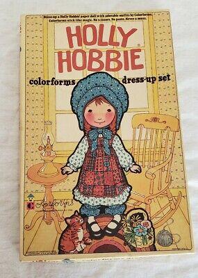 Vintage 1975 Holly Hobbie Colorforms Complete Set Dress-Up Set