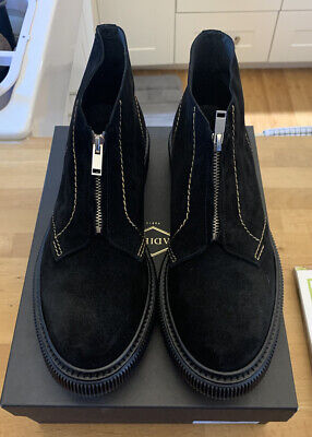 Adieu Paris Type 104 Suede Chukka Sneaker Boot Gold Stitch New W/Box