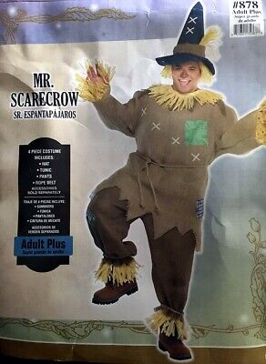 Mr. Scarecrow Halloween Wizard of Oz 4-pc.Costume Adult Plus Size: FREE SHIPPING