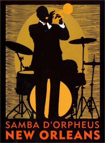 New Orleans Louisiana Samba Vintage United States Travel Advertisement Print