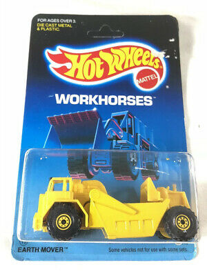 1986 Hot Wheels Workhorses Yellow Earth Mover #3715 New/Sealed