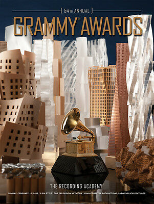 54th Anniversary Grammy Awards Poster Free Shipping Flat Then Rolled Perfect