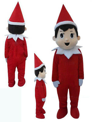 Christmas Boy Shelf Pinocchio Elf Mascot Costume Party Unisex Dress Adult - Pinocchio Costume Adult