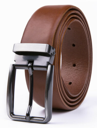 Men's Full Grain Genuine Leather Belts Casual Dress Jeans Belts For Men
