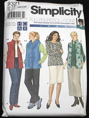 Simplicity 9321 Full Figure Wardrobe Pattern
